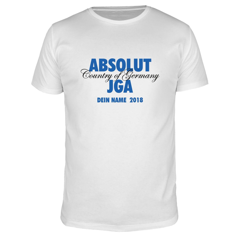 ABSOLUT JGA Wunschname - Männer T-Shirt