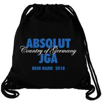 ABSOLUT JGA Wunschname - Gym Bag Turnbeutel
