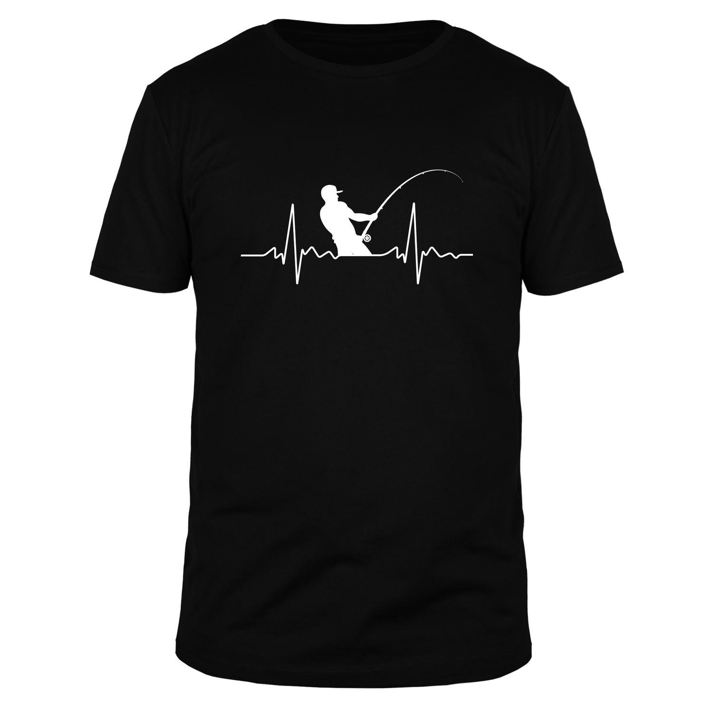 Herzschlag Angler - Männer T-Shirt