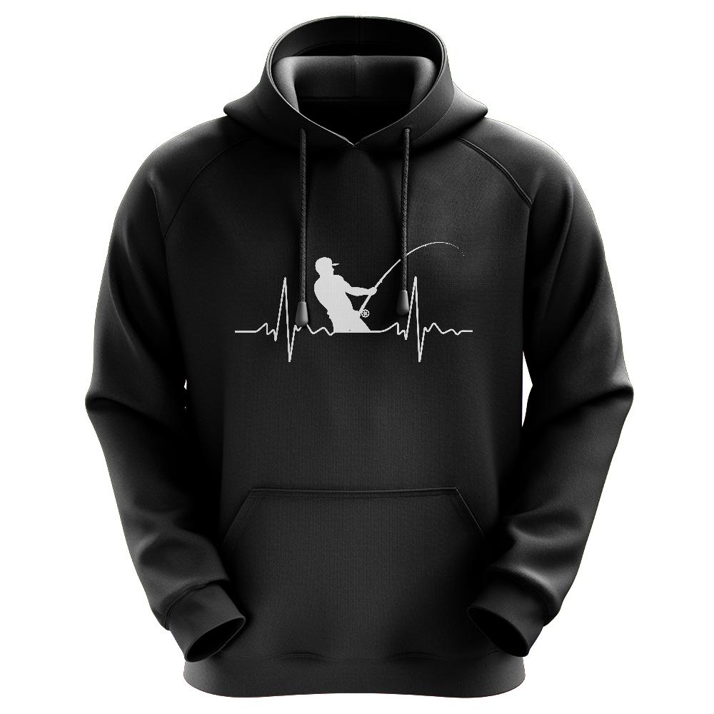 Herzschlag Angler - Männer Hoodie