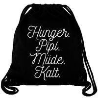 Hunger Pipi Müde Kalt - Gym Bag Turnbeutel