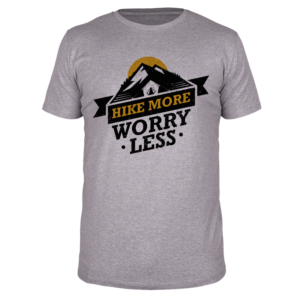 Hike More Worry Less - Männer T-Shirt