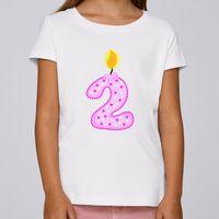 Kinder Mädchen Shirt Jahreszahl Geburtstag - Kinder T-Shirt