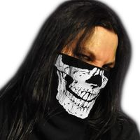 WINDMASK Winter Face Bandana Fleece Maske - Skull Face Totenkopf
