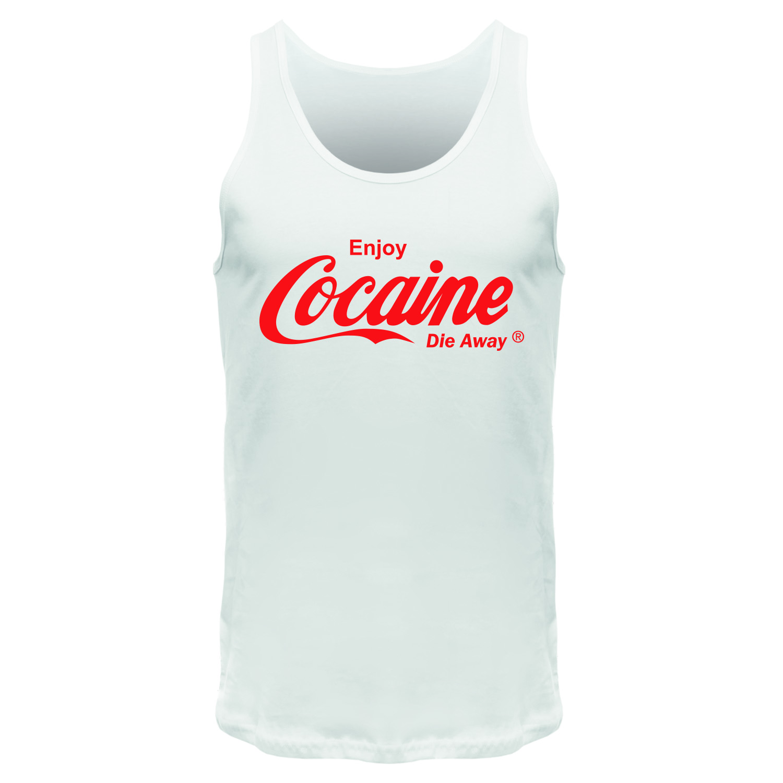 Enjoy Cocaine Die Away - Männer Tank Top