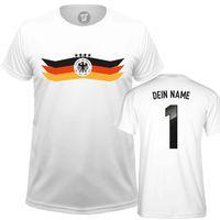 WM Fussball Fanshirt mit Wunschname und Nummer - Männer T-Shirt