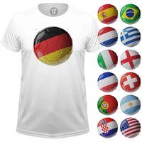 Fussball Länderfarben Fan T-Shirt für Männer