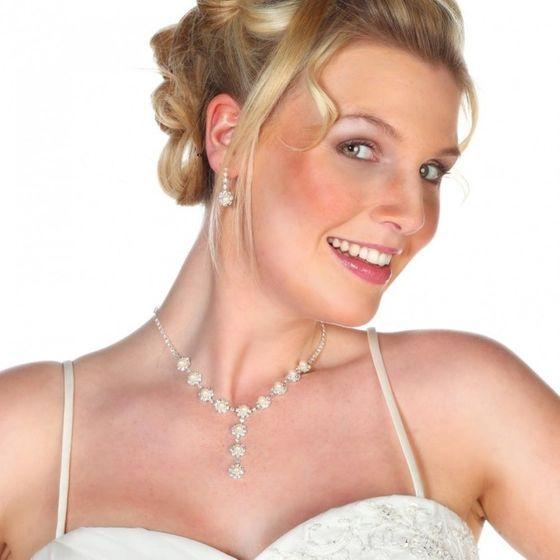 Braut Collier mit Ohrringen