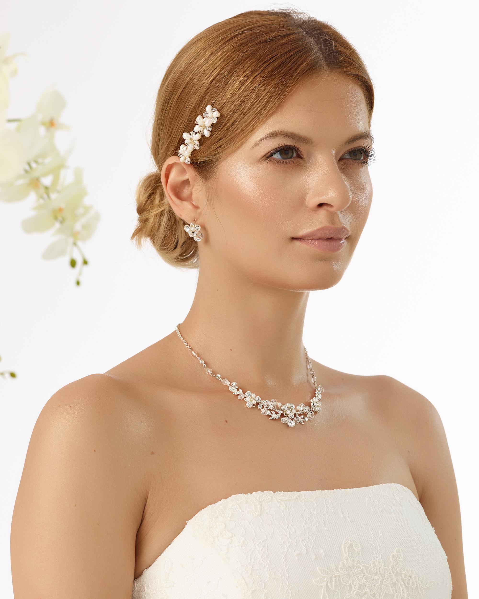 Curlies mit Perlen und Strass
