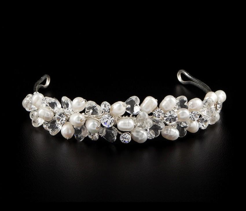 Brautschmuck diadem  Hochzeit Perlen Diadem Haarschmuck Diademe