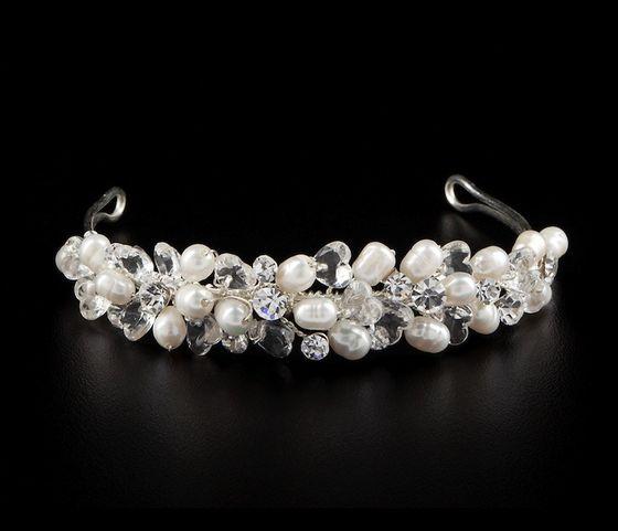 Hochzeit Perlen Diadem Diana