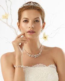 Diadem mit Perlen und Strass 001
