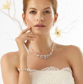 Braut Schmuckset - Halskette I Armband I Ohrringe 001