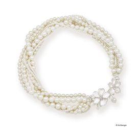 Perlencollier mit Blüten Fabienne