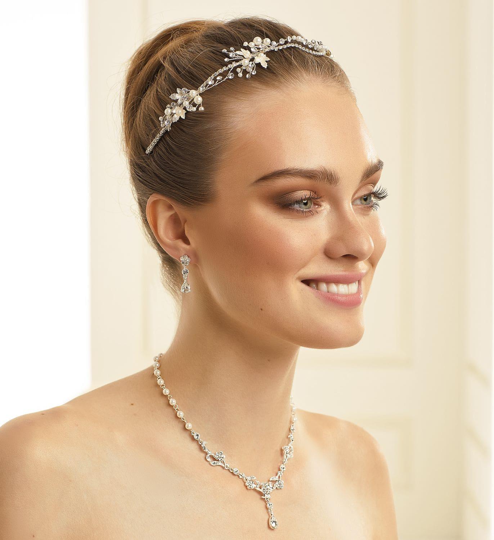 Brautkette mit Ohrringen N34