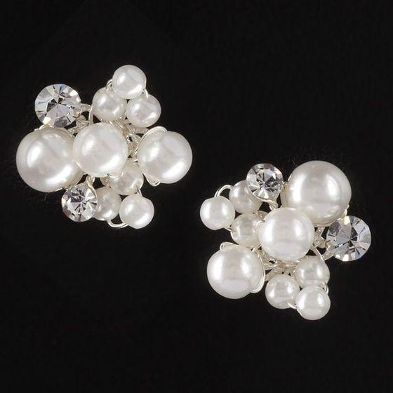 Ohrringe - Strass und Perlen