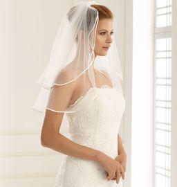 Brautschleier Länge 60 / 50 cm; zweistufig 001
