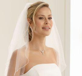 Brautschleier Rosina Länge 70 / 60 cm; zweistufig