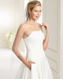 Brautschleier Julia Länge 110 cm; einstufig