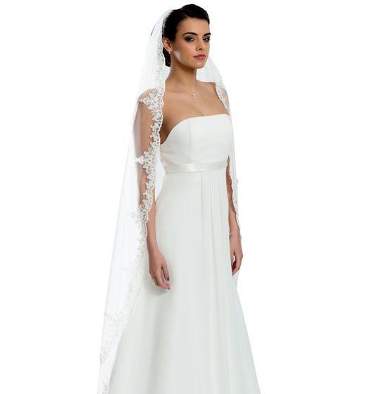 Brautschleier Länge 170 cm; einstufig