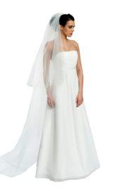 Brautschleier Länge 230 / 90 cm; zweistufig