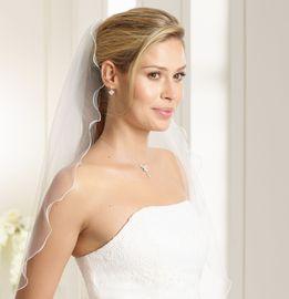 Brautschleier Annette Länge 80 cm; einstufig