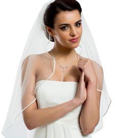 Brautschleier Victoria Länge 80 cm; einstufig