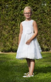 Monny Kommunionkleid 2020 No. 27 – Weiß 001