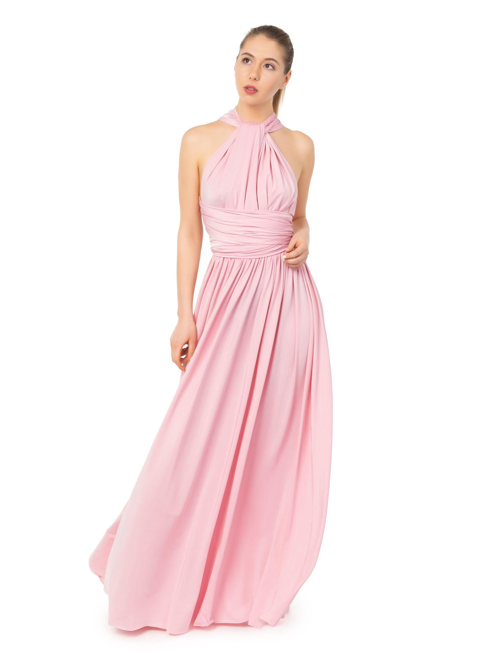 Brautjungfernkleid Wickelkleid Rosa I Größe 34-40