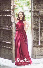 ELIZA & ETHAN Brautjungfernkleid lang - Mullberry 001