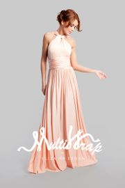 ELIZA & ETHAN Brautjungfernkleid lang - Dusty Peach 001