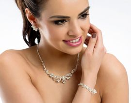 Braut Schmuckset Halskette und Armband