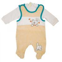 Baby Nicki Strampler Set mit Shirt (2 teilig) - Mädchen,  Jungen, Unisex - Pink, Blau, Beige Bild 6