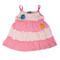 Findet Nemo Baby Kleid mit Nemo und Dorie Mädchen | Spaghetti-Träger | Weiss - Pink