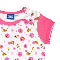 Disney´s Findet Nemo T-Shirt Jungen Mädchen Unisex |  kurzarm | Weiss - Pink 003
