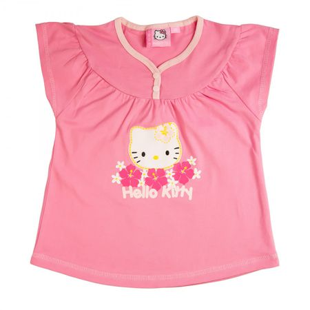Hello Kitty T-Shirt Top Mädchen | kurzarm | Pink