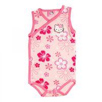 Hello Kitty Baby Body mit Blumenmotiv - Mädchen |  kurzarm | Pink 001