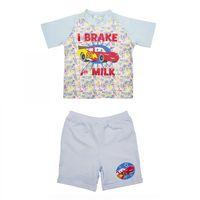 Disney´s CARS Bekleidungsset(2 teilig) Set I brake for milk - Jungen Mädchen - Blau Bunt