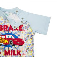 Disney´s CARS Bekleidungsset(2 teilig) Set I brake for milk - Jungen Mädchen - Blau Bunt 004