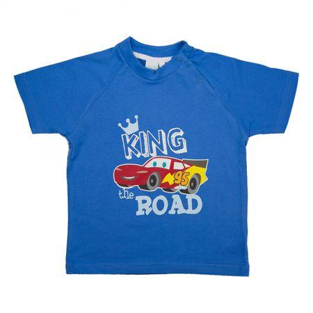 Disney´s CARS T-Shirt King of the Road Jungen Mädchen Unisex |  kurzarm | Blau