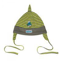 Hello Kitty oder Schlümpfe Mütze mit Ohrenschutz und Bändchen Baby Mädchen Jungen  007