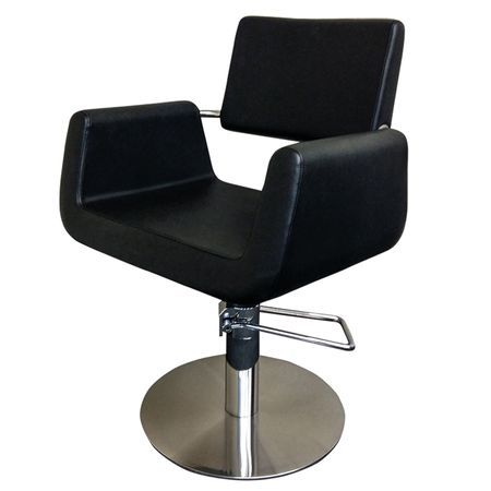 Cleveroo Friseurstuhl DENEUVE, runde Bodenplatte, Sitzhöhe verstellbar: 46 - 62 cm,  360° drehbar