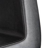 Cleveroo Friseurstuhl DENEUVE, alu Kreuzfuss, Sitzhöhe verstellbar: 46 - 62 cm,  360° drehbar 006