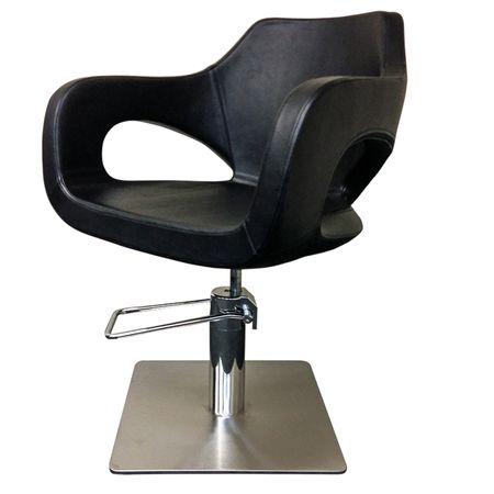 Cleveroo Friseurstuhl LADY DI, quadratische Bodenplatte, Sitzhöhe verstellbar: 44 - 60 cm,  360° drehbar