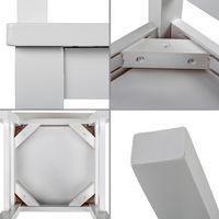 2-er Set Schwarzwald Massivholz Kinderstuhl SUSI Kernbuche, 30 x 30 x 50 cm, weiß 003
