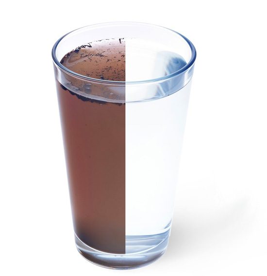 Under-sink water filter Filter capacity