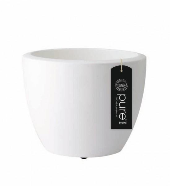 pflanzgef pure soft round 40 cm mit rollen wei von elho ebay. Black Bedroom Furniture Sets. Home Design Ideas