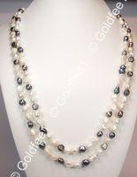 Endloskette aus Süsswasser Zucht-Perlen