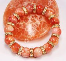 Jade Armband orange