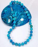 Blaue Chrysocolla Steinkette